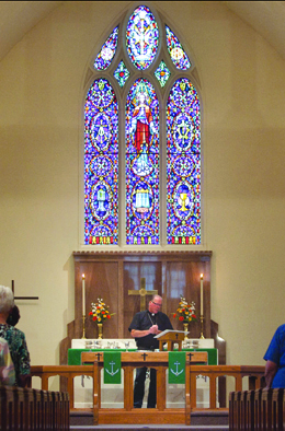 Estherville Lutheran Church Pastor in Sanctuary